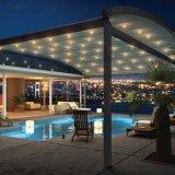 LEDライトが付いている引き込み式の日よけの屋外の屋根の湾曲