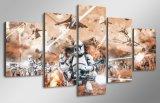 [هد] طبع [ستر ور] أفلام [بينتينغ كنفس] [برينت رووم] زخرفة طبق ملصقة صورة نوع خيش شحن حرّة