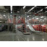 Plate-forme en acier de mezzanine, système à plusieurs niveaux de défilement ligne par ligne avec l'étage de mezzanine