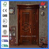 Porte en bois intérieure de luxe parfaite de Tailleur d'artisan (JHK-012-1)