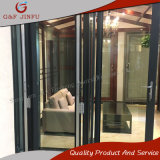 Porta de dobradura de alumínio do perfil com vidro dobro para a venda