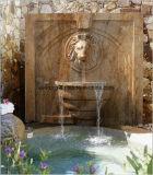 De openlucht Gele Marmeren Fontein van het Water van het Standbeeld van het Cijfer, de Fontein van de Muur in de Producten van de Tuin van de Steen