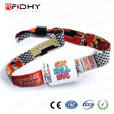 Bracelet d'IDENTIFICATION RF tissé par festival fait sur commande de prix usine pour des activités d'usager
