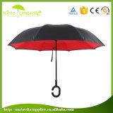 Nuova ombrello invertito dell'ombrello C di stile maniglia antivento pigra