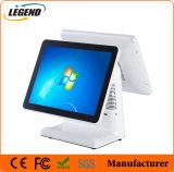 """Het dubbele Scherm 15 """" Capacitieve Touchscreen POS Terminal"""