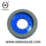 連続的な縁はダイヤモンドの乾燥した粉砕車輪を樹脂結ぶ