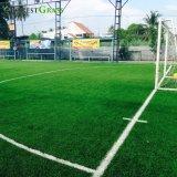 Campo separado verde e verde lima Desportos de relva artificial