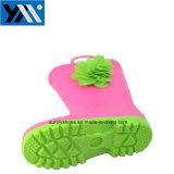 Nouveau design Hotsale mignon de bottes de pluie en PVC avec fleur