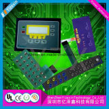 Personalizar Multicolor convexo cóncavo del interruptor del panel de control de la membrana
