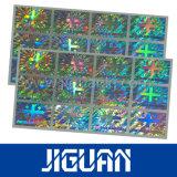 ganz eigenhändig geschrieber Anti-Fälschenaufkleber des Hologramm-3D