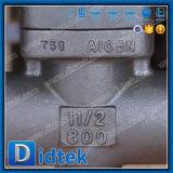 El borde de Didtek termina la válvula de puerta eléctrica de Wcb