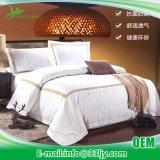 最高のホテルのためのホテルの供給の贅沢な綿繻子によって刺繍されるベッドカバー