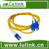 Cordon de connexion de fibre optique de qualité avec le duplex modèle simple