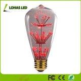 Nostalgische dekorative sternenklare Art-Glühlampe der LED-Heizfaden-Birnen-3W E26 St64 für Festival