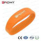 Do Wristband barato RFID do silicone de Rewearable bracelete de borracha