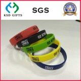 Erstklassiges kundenspezifisches Silikon-Gummi-Armband ohne minimale Menge (KSD-826)