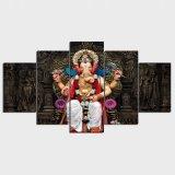 Panel-Segeltuch-Druck-tibetanische Buddhismus Ganesha Segeltuch-Farbanstrich-Plakat-Ausgangsdekor-Wand-Kunst des HD Druck-5 für Wohnzimmer-Dekor