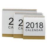 2018 서류상 인쇄 책상 달력을 주문을 받아서 만드십시오