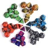 7 x 6 dados acrílicos dos jogos ajustaram-se para o Rpg de Dnd Mtg dos Dungeon e dos dragões do jogo de tabela