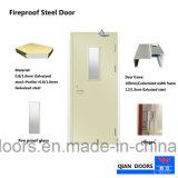 Venta caliente Habitación de acero con doble puerta con cristal puerta incombustible