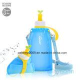 Leck-Beweis-Arbeitsweg-Wasser-Flasche des zusammenklappbaren Silikon-11oz materielle