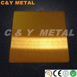 304 décoratifs Ti-Gold Tôles en acier inoxydable avec des couleurs de revêtement