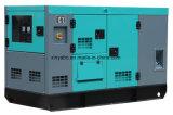 113kVA 90kw Yuchai 침묵하는 디젤 엔진 발전기 방음 발전기