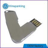 Tamanho pequeno da movimentação do flash do USB da torção do metal
