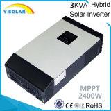 50A-MPPT 태양 관제사 Mps 3kVA를 가진 2400W 24VDC-220VAC 태양 잡종 변환장치