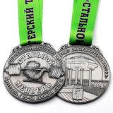 A promoção por atacado barata 3D levantou a medalha personalizada do metal