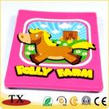 Cavalo de animais fofos coloridas Chaveiro de PVC