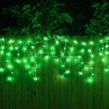 당 크리스마스 결혼식 훈장 LED 끈 고드름 빛