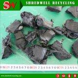 강력한 작은 조각 또는 폐기물 사용하는 오래된 타이어 문서 절단기