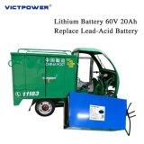 Nachladbarer Lithium-Ionenbatterie-Satz 60V20ah für elektrisches Auto