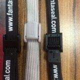 주문 소형 안정제를 위한 로고에 의하여 인쇄되는 손목 붕대 방아끈