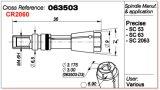 Anello dell'asse di rotazione del pezzo di ricambio della macchina del PWB 063503