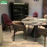Uma cadeira de jantar traseira da elevação de couro vermelha do assento sem braço (YC545)