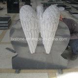 G654 de Grijze het Glimlachen van het Graniet Grafsteen van het Hart van de Engel