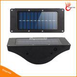 550 Lm jardin extérieur mur de lumière solaire sans fil avec détecteur de mouvement étanche IP65