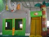 膨脹可能なおもちゃの警備員象、ジャングルの主題の城(B3014)