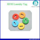 Étiquette symbolique de blanchisserie d'IDENTIFICATION RF lavable d'ABS/PPS populaire