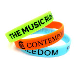 Silicone personnalisé gravé/bracelet avec logo gravé en relief
