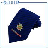 Gravata feita sob encomenda de seda do logotipo do sólido Color100% do projeto da forma