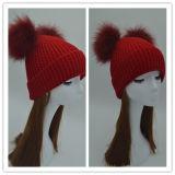 Горячая продажа высококачественные трикотажные зимой Beanie Red Hat