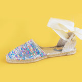 Nuove scarpe di tela materiali degli appartamenti del legame di Ankel delle signore