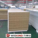 El panel de emparedado incombustible antisonoro de las lanas de cristal