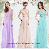 Schöner preiswerter reizvoller V-Stutzen der Großhandelsfrauen lange Abschlussball-Brautjunfer-Kleider