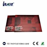 De alta calidad de 10.1 pulgadas LCD Video de saludo regalo empresarial Folleto de la tarjeta de vídeo con pantalla táctil