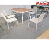 Tabella pranzante della corda esterna e mobilia di tessitura del giardino della presidenza