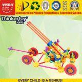 Novo design dos automóveis ABS Blocos coloridos brinquedos criativos